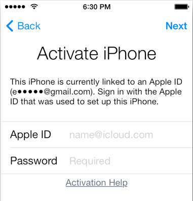 Apple Activation Lock greške