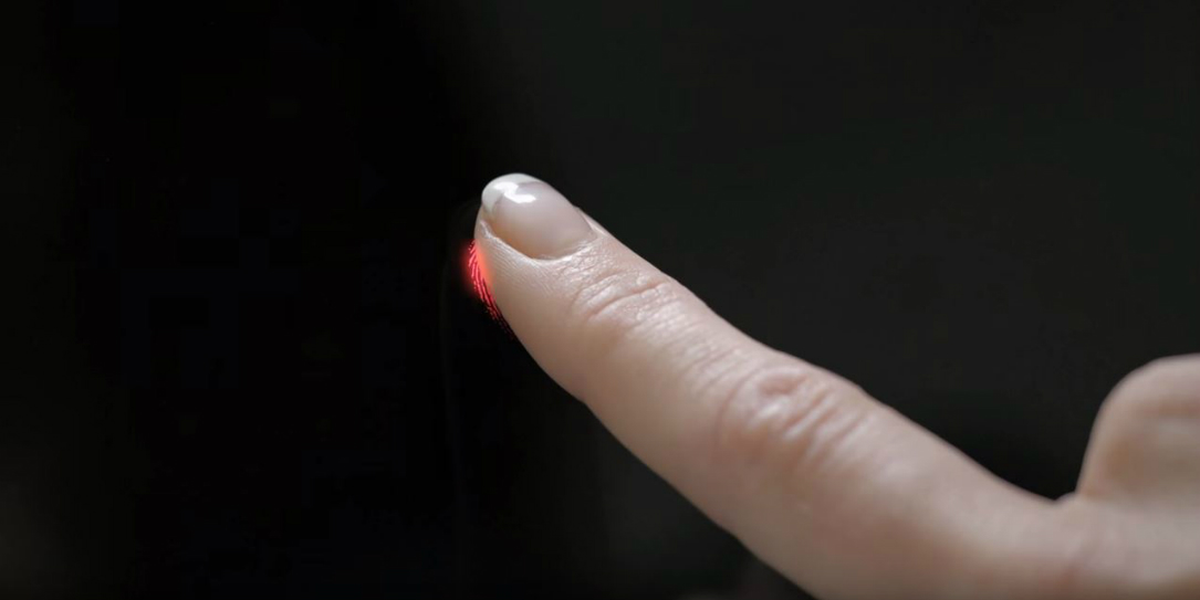 lg fingerprint button less